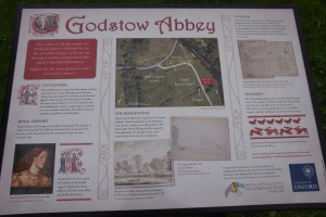 Godstow Abbey Sign Unveiling